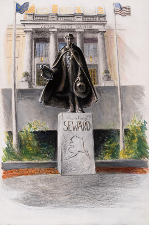 The latest design for the Steward Statue